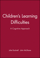 Children's Learning Difficulties: A Cognitive Approach (0631170170) cover image