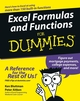 Excel Formulas and Functions For Dummies (0764596470) cover image