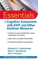 Essentials of Cognitive Assessment with KAIT and Other Kaufman Measures (0471383171) cover image