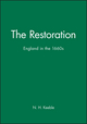 The Restoration: England in the 1660s (0631236171) cover image