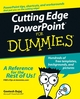 Cutting Edge PowerPoint For Dummies (0764598171) cover image