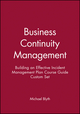 Business Continuity Management: Building an Effective Incident Management Plan Course Guide Custom Set (1118066871) cover image