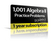 1,001 Algebra II Practice Problems For Dummies (1-Year Online Subscription) (1118677471) cover image