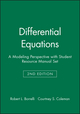 Differential Equations: A Modeling Perspective, 2e with Student Resource Manual Set (0470292172) cover image
