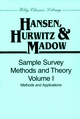 Sample Survey Methods and Theory, Volume 1: Methods and Applications (0471309672) cover image