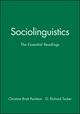 Sociolinguistics: The Essential Readings (0631227172) cover image