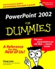 PowerPoint 2002 For Dummies (0764508172) cover image
