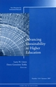 Advancing Sustainability in Higher Education: New Directions for Institutional Research, Number 134 (0470176873) cover image