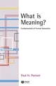 What is Meaning?: Fundamentals of Formal Semantics (1405109173) cover image