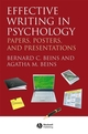 Effective Writing in Psychology: Papers, Posters, and Presentations (1444357573) cover image