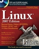 Linux Bible: Boot up to Ubuntu, Fedora, KNOPPIX, Debian, SUSE, and 11 Other Distributions, 2007 Edition (0470165774) cover image