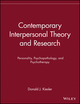 Contemporary Interpersonal Theory and Research: Personality, Psychopathology, and Psychotherapy (0471148474) cover image