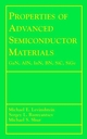 Properties of Advanced Semiconductor Materials: GaN, AIN, InN, BN, SiC, SiGe (0471358274) cover image