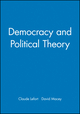 Democracy and Political Theory (0745604374) cover image