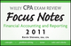 Wiley CPA Examination Review Focus Notes: Financial Accounting and Reporting 2011 (1118025474) cover image