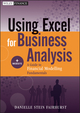 Using Excel for Business Analysis: A Guide to Financial Modelling Fundamentals (1118132874) cover image