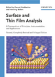 Surface and Thin Film Analysis: A Compendium of Principles, Instrumentation, and Applications, 2nd, Completely Revised and Enlarged Edition (3527320474) cover image