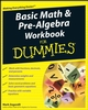 Basic Math and Pre-Algebra Workbook For Dummies (0470288175) cover image