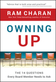 Owning Up: The 14 Questions Every Board Member Needs to Ask (0470397675) cover image