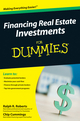 Financing Real Estate Investments For Dummies (0470496975) cover image