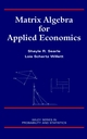 Matrix Algebra for Applied Economics (0471322075) cover image