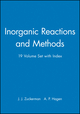 Inorganic Reactions and Methods, Volumes 1 - 19 and Index Parts 1 & 2 Set (0471328375) cover image