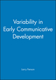 Variability in Early Communicative Development (0631224475) cover image