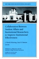Collaboration Between Student Affairs and Institutional Researchers to Improve Institutional Effectiveness: New Directions for Institutional Research, Number 108 (0787957275) cover image