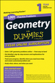 1,001 Geometry Practice Problems For Dummies Access Code Card (1-Year Subscription) (1118853075) cover image