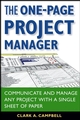 The One-Page Project Manager: Communicate and Manage Any Project With a Single Sheet of Paper (0470052376) cover image