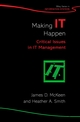 Making IT Happen: Critical Issues in IT Management  (0470850876) cover image