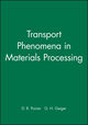 Transport Phenomena in Materials Processing, Solutions Manual (0470923776) cover image