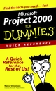 Microsoft Project 2000 For Dummies Quick Reference (0764507176) cover image