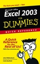 Excel 2003For Dummies Quick Reference (0764539876) cover image