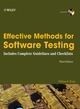Effective Methods for Software Testing: Includes Complete Guidelines, Checklists, and Templates, 3rd Edition (0764598376) cover image