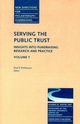 Serving the Public Trust: Insights into Fundraising Research and Practice: New Directions for Philanthropic Fundraising, Number 26, Volume 1 (0787953776) cover image