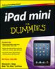 iPad mini For Dummies (1118583876) cover image