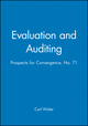 Evaluation and Auditing: Prospects for Convergence, No. 71 (0787998877) cover image