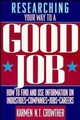 Researching Your Way to a Good Job (0471548278) cover image