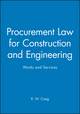 Procurement Law for Construction and Engineering: Works and Services (0632049278) cover image