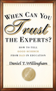 When Can You Trust the Experts?: How to Tell Good Science from Bad in Education (1118130278) cover image