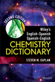 Wiley's English-Spanish, Spanish-English Chemistry Dictionary, 2nd Edition (1118237978) cover image