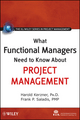 What Functional Managers Need to Know About Project Management (0470525479) cover image