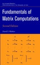Fundamentals of Matrix Computations, 2nd Edition (0471461679) cover image