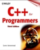 C++ for Programmers , 3rd Edition (0471606979) cover image