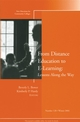 From Distance Education to E-Learning: Lessons Along the Way: New Directions for Community Colleges, Number 128 (0787979279) cover image