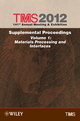 TMS 2012 141st Annual Meeting and Exhibition, Supplemental Proceedings, Volume 1, Materials Processing and Interfaces (1118296079) cover image