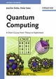 Quantum Computing: A Short Course from Theory to Experiment (3527617779) cover image