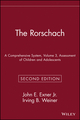 The Rorschach, A Comprehensive System, Volume 3, Assessment of Children and Adolescents, 2nd Edition (047155927X) cover image