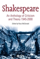 Shakespeare: An Anthology of Criticism and Theory 1945-2000 (063123487X) cover image